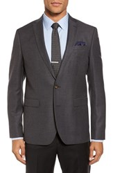 Sand Men's Trim Fit Wool Blazer Charcoal