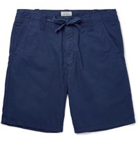 Hartford Slim Fit Drawstring Cotton Shorts Navy