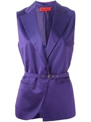 Roberta Di Camerino Vintage Belted Waistcoat Pink And Purple