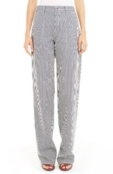 Chloe Women's Stripe Straight Leg Jeans