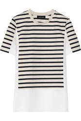 Sophie Hulme Paneled Striped Jersey And Crepe Top