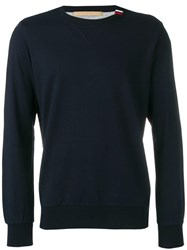 Eleventy Navy Knitted Sweater Blue