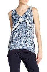 Philosophy Sleeveless Double Layer Blouse Blue