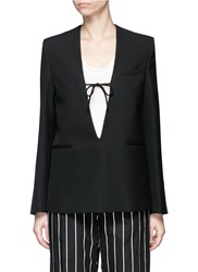 Acne Studios 'Amey Struct' V Neck Blazer Top Black