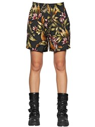 Faith Connexion Tahiti Floral Printed Washed Silk Shorts