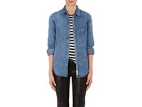 Rag And Bone Women's Chambray Button Front Shirt Blue