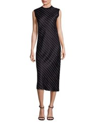 Dkny Pinstripe Shift Dress Black