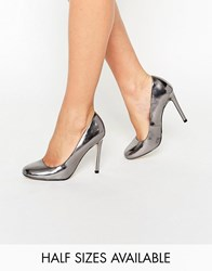 Asos Playtime High Heels Pewter Silver