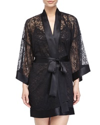 Christine Sophia Lace Short Robe Kohl