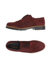 Pierre Darre Lace Up Shoes Maroon