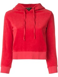 Juicy Couture Velour Shrunken Hooded Pullover 60