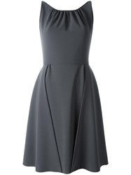 Moschino Overlay Sleeveless Dress Grey
