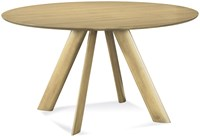 Saloom Furniture Eden Round Maple Dining Table With Smooth Top