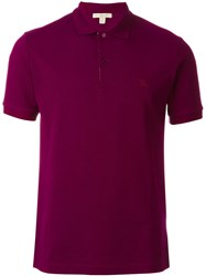 Burberry Brit Logo Embroidered Polo Shirt Pink And Purple
