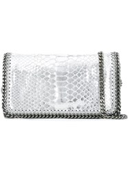 Stella Mccartney Mini 'Falabella' Crossbody Bag Metallic
