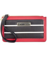Betsey Johnson Stripe Wallet Red