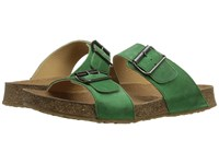 Haflinger Andrea2 Emerald Women's Sandals Green