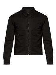 Christophe Lemaire Two Pocket Cotton Jacket Black