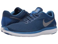 Nike Flex 2016 Rn Coastal Blue Star Blue Hyper Cobalt Metallic Cool Grey Men's Running Shoes Coastal Blue Star Blue Hyper Cobalt Metallic Cool