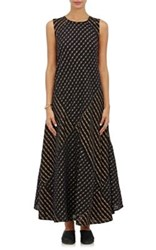 Ace And Jig Women's Troy Mixed Striped Gauze Dress Black