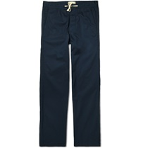 Oliver Spencer Drawstring Cotton Trousers Blue
