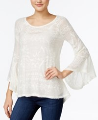 Jessica Simpson Hyne Bell Sleeve Sweater White