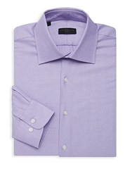 Ike By Ike Behar Textured Long Sleeve Dress Shirt Light Purple
