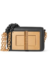 Tom Ford Natalia Embellished Leather Shoulder Bag Black