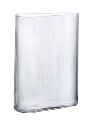 Nude Tall Mist Glass Vase Transparent