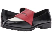 Alice Olivia Tamar Black Calf Dove Haircalf Ruby Nappa Women's Shoes