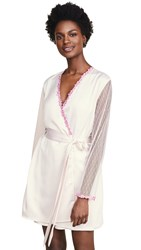 Flora Nikrooz Showstopper Charmeuse Cover Up With Lace Mauve