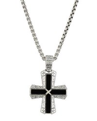 Stephen Webster Men's Highwayman Cross Pendant Necklace Silver