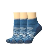 Smartwool Phd Outdoor Light Mini 3 Pack Glacial Blue Women's Quarter Length Socks Shoes