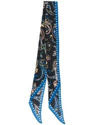 Zadig And Voltaire Skull Bandanna Scarf Black