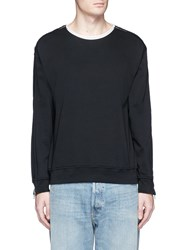 3.1 Phillip Lim Zip Sleeve Cotton Sweatshirt Black