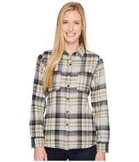The North Face Long Sleeve Willow Creek Flannel Tnf Light Grey Heather Plaid Long Sleeve Button Up White