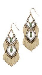 Adia Kibur Sari Earrings Green