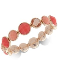 Nine West Colored Stone Stretch Bracelet Coral