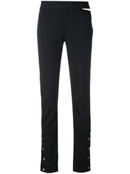 Nomia Button Cuff Trousers Women Polyester Spandex Elastane 6 Black