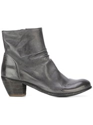 Officine Creative Chabrol Zip Ankle Boots Grey