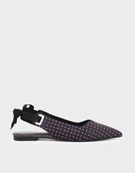 Charles And Keith Lace Up Bow Slingback Flats Multi