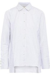 Charli Woman Striped Cotton Poplin Shirt Gray