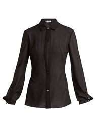 Lanvin Sheer Silk Blend Shirt Black