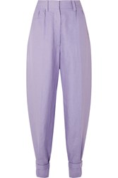 Hillier Bartley Linen Tapered Pants Lilac