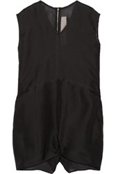 Rick Owens Oversized Silk Organza Playsuit Black