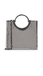 Whiting And Davis Nolita Top Handle Tote Pewter