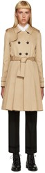 Thom Browne Khaki Pleated Trench Coat