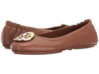 Tory Burch Minnie Travel Ballet Royal Tan Gold Women's Shoes