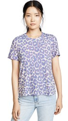 Sol Angeles Leopard Wide Hem Crew Tee