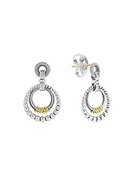 Lagos 18K Gold And Sterling Silver Micro Double Circle Earrings Gold Silver